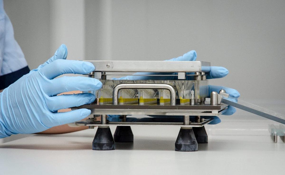 осмотр образцов лаборатории
