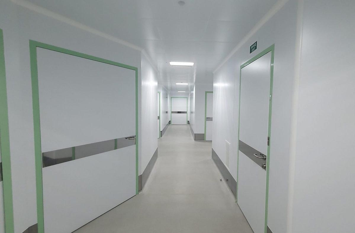чистые помещения и коридор после ремонта